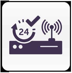 </p> <div> <p>Votre système se raccorde très simplement sur votre box ADSL, sans programmation.</p> <div>La communication est testée quotidiennement.</div> </div> <p>